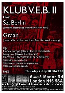 Graan at Club VEB poster